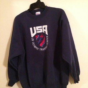 HANES ADULT SIZE XL NAVY BLUE USA OLYMPIC TRAINING